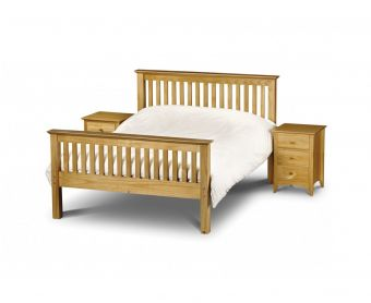 Basel High Foot End Solid Pine Single Bed