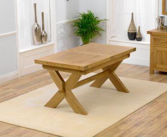 Bordeaux 160cm Oak Extending Dining Table