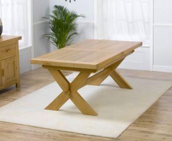 Bordeaux 200cm Solid Oak Extending Dining Table