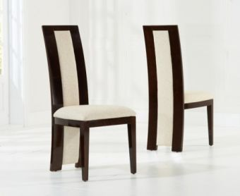 Raphael Brown Solid Wood Chairs (Pairs)