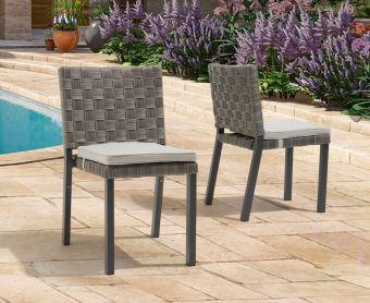 Geranium Grey Garden Chairs