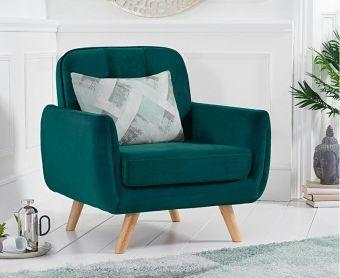 Coby Green Velvet Armchair