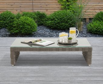 Callie Grey Wicker Garden Coffee Table