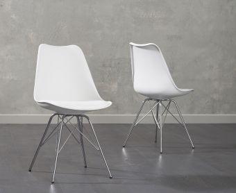 Calvin White Faux Leather Chair