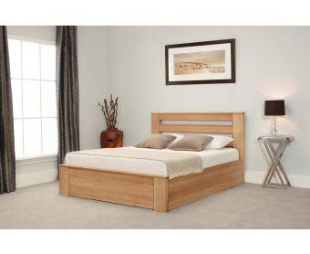 Charnwood Oak Ottoman Super King Size Bed