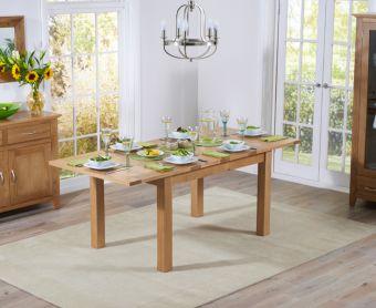 Cheadle 130cm Oak Extending Dining Table