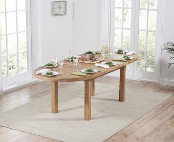 Chelsea Oak Extending Oval Dining Table