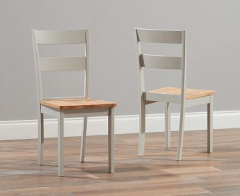 Chiltern Oak and Grey Dining Chairs (Pairs)