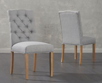 Candice Grey Fabric Dining Chair