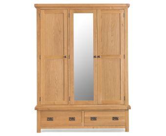 Sasha Three Door Wardrobe with Mirror