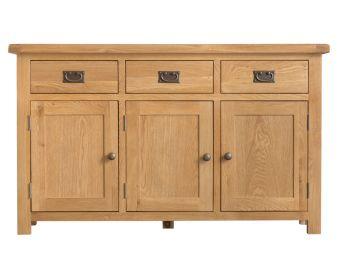 Sasha 3 Door 3 Drawer Oak Sideboard
