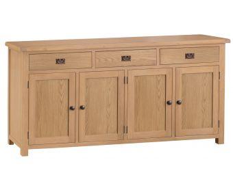 Sasha 4 Door 3 Drawer Oak Sideboard