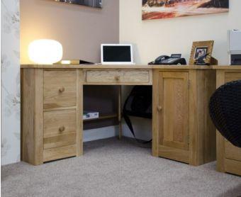 Reno Oak Corner Computer Desk