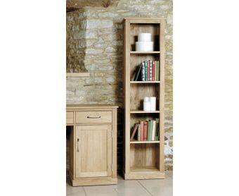 Mobel Solid Oak Narrow Bookcases
