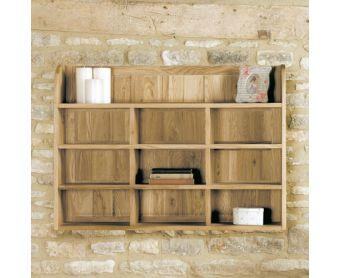 Mobel Solid Oak Reversible Wall Rack
