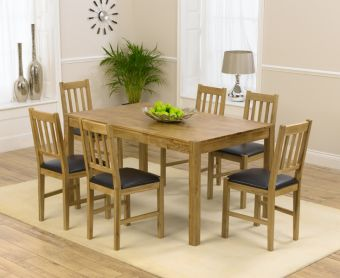 Oxford 150cm Solid Oak Dining Table with Oxford Chairs
