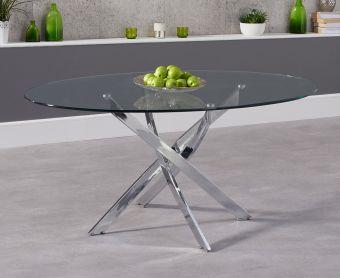 Denver 165cm Glass Dining Table