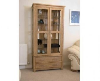 Opus Oak and Glass Display Cabinet