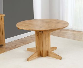 Dorchester 120cm Solid Oak Round Extending Dining Table