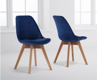 Demi Blue Velvet Dining Chairs