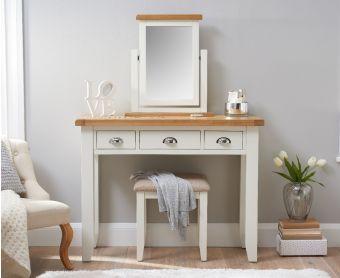 Ellen Oak and White Dressing Table