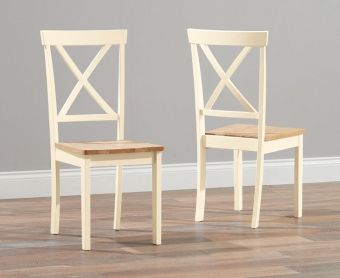 Epsom Cream Dining Chairs (Pairs)