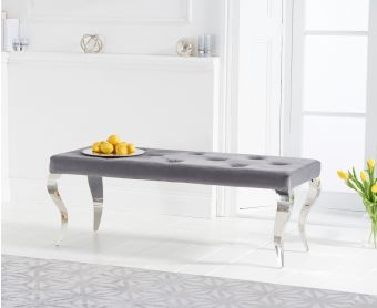 Fairmont 130cm Grey Velvet Bench