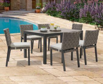 Geranium 150cm Dark Grey Garden Table and Geranium Chairs