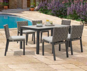 Geranium 150cm Light Grey Garden Table and Geranium Chairs