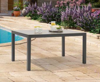 Geranium 150cm Dark Grey Garden Table