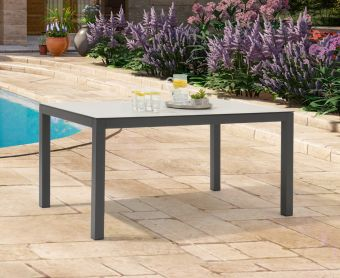 Geranium 150cm Light Grey Garden Table