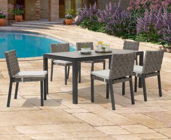 Geranium 180cm Dark Grey Garden Table and Geranium Chairs
