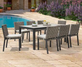 Geranium 180cm Light Grey Garden Table and Geranium Chairs