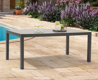 Geranium 180cm Dark Grey Garden Table