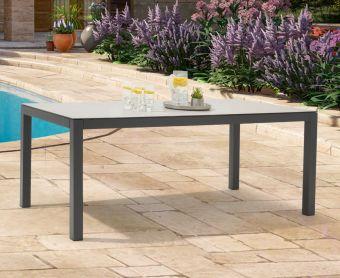 Geranium 180cm Light Grey Garden Table