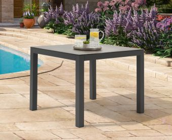 Geranium 90cm Dark Grey Garden Table