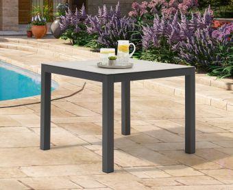 Geranium 90cm Light Grey Garden Table
