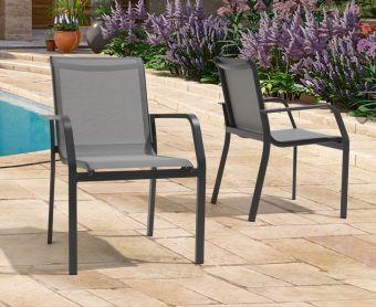 Canna Grey Garden Chairs