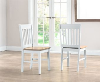 Genoa Oak and White Dining Chairs