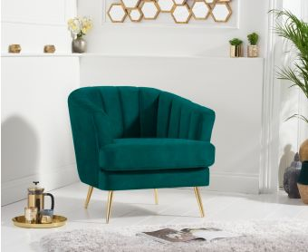 Lulu Armchair in Green Velvet