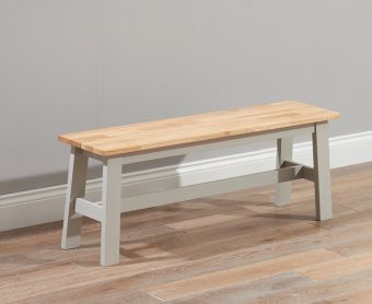 Chiltern Oak and Grey Large Bench