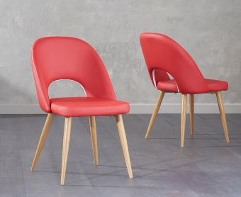 Harrogate Red Faux Leather Dining Chair