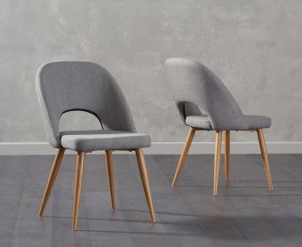 Harrogate Grey Fabric Dining Chair