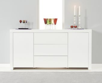 Hampstead White High Gloss Sideboard