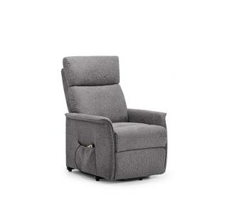 Heidi Rise and Recline Charcoal Velvet Fabric Chair