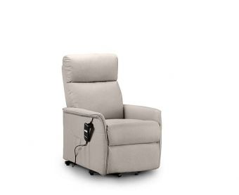 Heidi Rise and Recline Pebble Faux Leather Chair