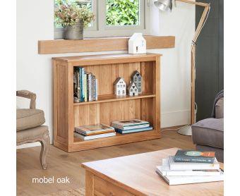 Mobel Solid Oak Low Bookcases