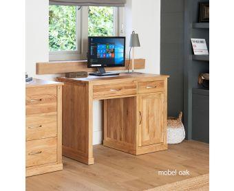 Mobel Solid Oak Single Pedestal Computer Desk