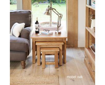 Mobel Solid Oak Nest of Tables