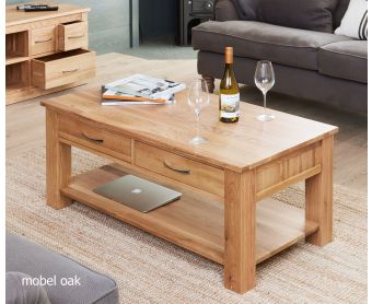 Mobel Solid Oak 4 Drawer Coffee Table
